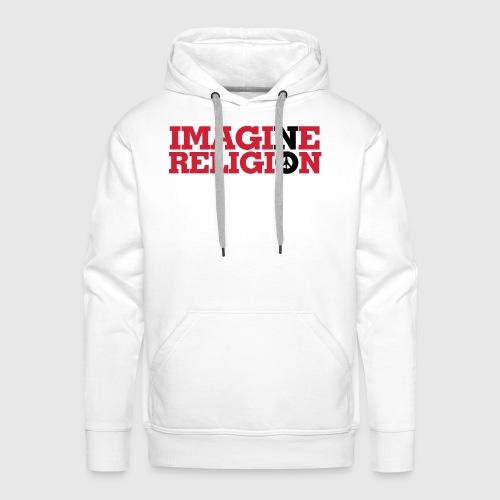 IMAGINE NO RELIGION - Herre Premium hættetrøje
