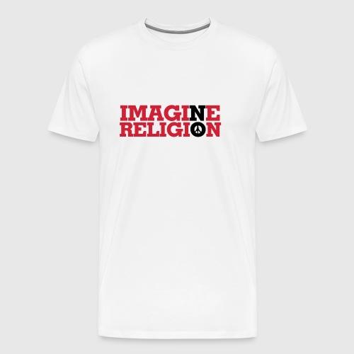 IMAGINE NO RELIGION - Herre premium T-shirt