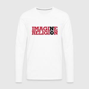 IMAGINE NO RELIGION - Herre premium T-shirt med lange ærmer