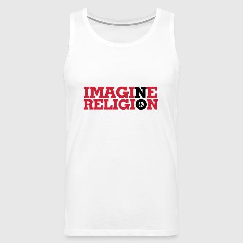 IMAGINE NO RELIGION - Herre Premium tanktop