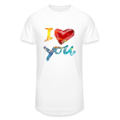 I Love You - Männer Urban Longshirt