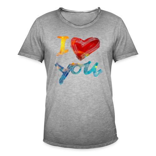 I Love You - Männer Vintage T-Shirt