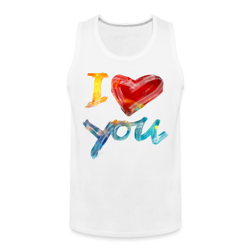 I Love You - Männer Premium Tank Top