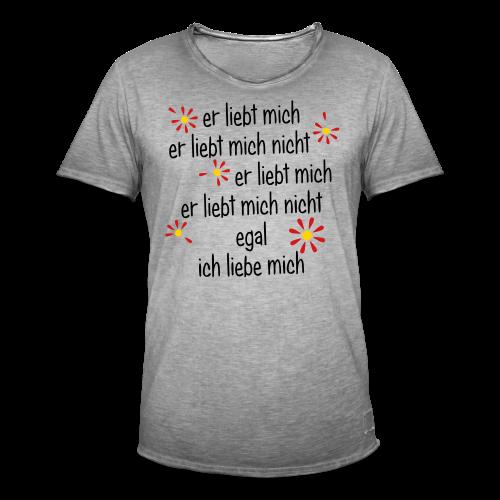 Er liebt mich... - Männer Vintage T-Shirt
