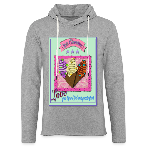 I Love Icecream - Leichtes Kapuzensweatshirt Unisex