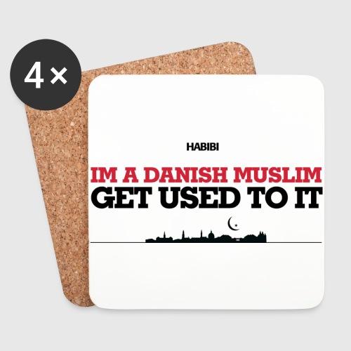 IM A DANISH MUSLIM - GET USED TO IT - Glasbrikker (sæt med 4 stk.)