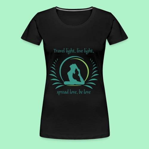 Yogigo am Reisen - Frauen Premium T-Shirt