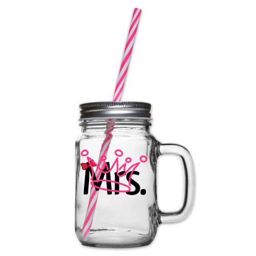 T-Shirt Mulher - Glass jar with handle and screw cap