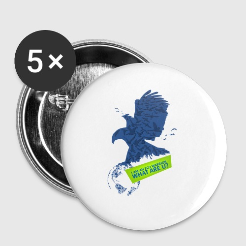 EO WARRIOR - Buttons/Badges lille, 25 mm (5-pack)