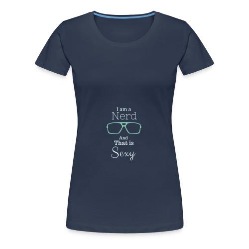 sexy Nerd - Tanktop/ marine - Frauen Premium T-Shirt
