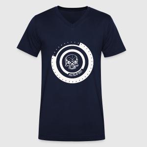 LIVING ON THE EDGE - Økologisk Stanley & Stella T-shirt med V-udskæring til herrer