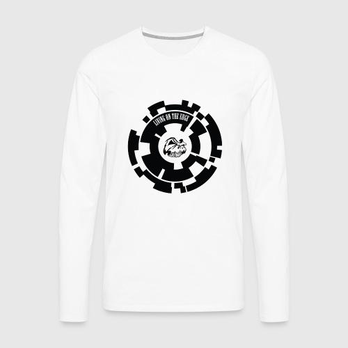 LIVING ON THE EDGE - Herre premium T-shirt med lange ærmer