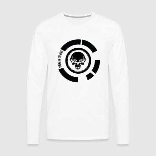 LIVING ON THE EDGE III - Herre premium T-shirt med lange ærmer
