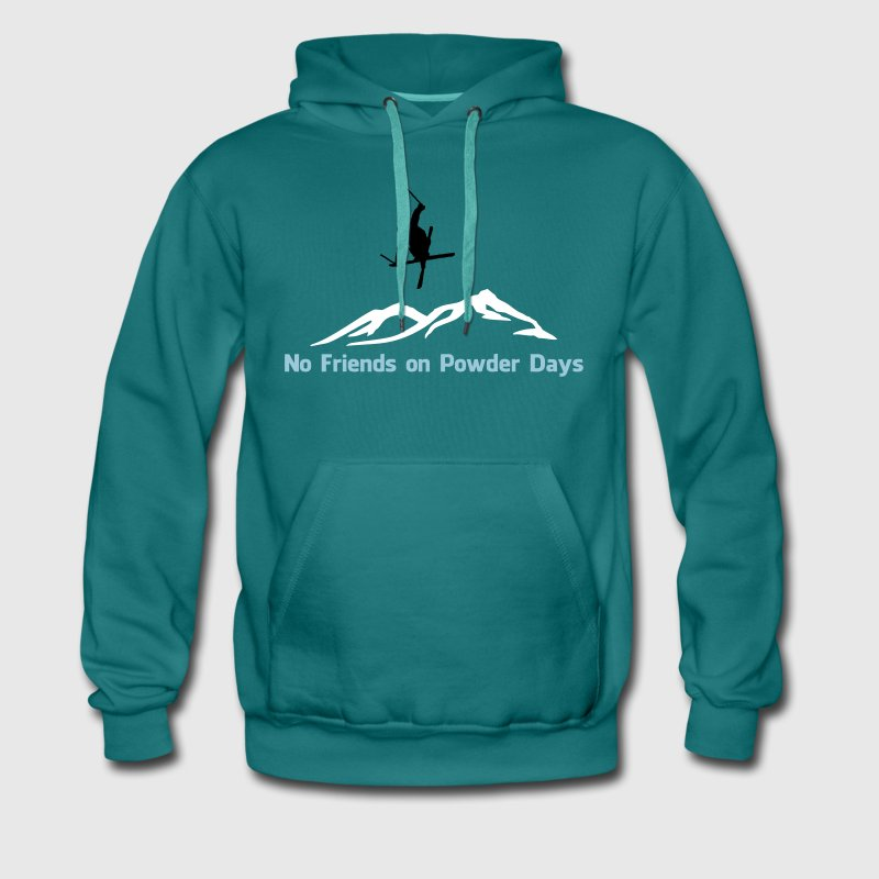 No. of friends on Powder days - Men's Premium Hoodie