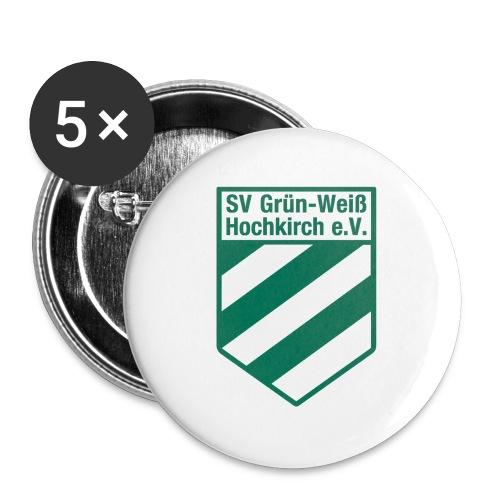Buttons mit Logo der GWH! - Buttons groß 56 mm (5er Pack)