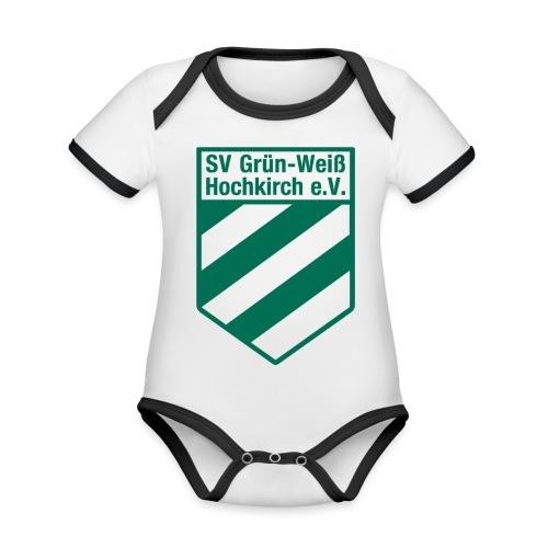 Buttons mit Logo der GWH! - Baby Bio-Kurzarm-Kontrastbody