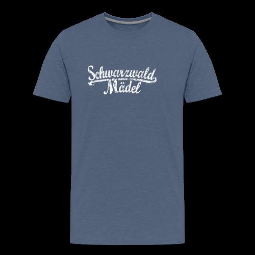 Schwarzwald Mädel Classic Vintage (Weiß) S-3XL T-Shirt - Männer Premium T-Shirt