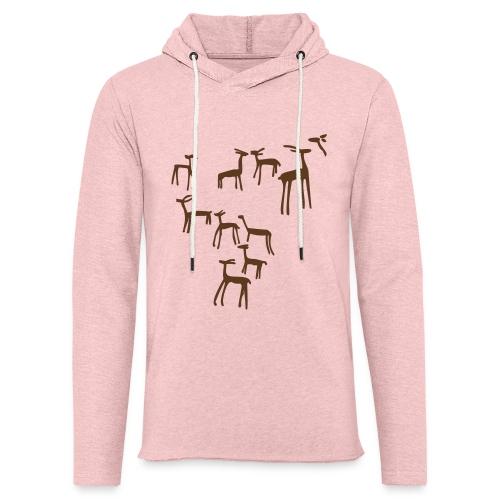 Camiseta ciervos - Sudadera ligera unisex con capucha