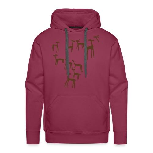 Camiseta ciervos - Sudadera con capucha premium para hombre