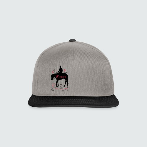 Motiv-164-Schwarz-Magenta-Grau - Snapback Cap