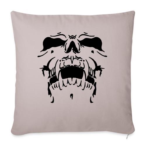 Sweat Cinza Caveira - Sofa pillowcase 17,3'' x 17,3'' (45 x 45 cm)