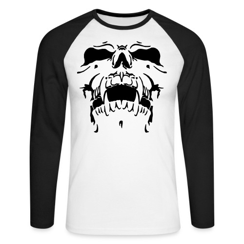 Sweat Cinza Caveira - Men's Long Sleeve Baseball T-Shirt