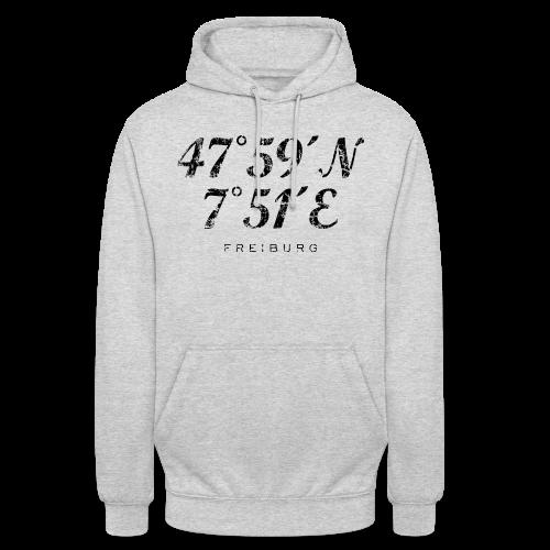 Freiburg Koordinaten Vintage (Schwarz) S-5XL T-Shirt - Unisex Hoodie