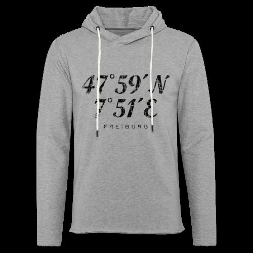 Freiburg Koordinaten Vintage (Schwarz) S-5XL T-Shirt - Leichtes Kapuzensweatshirt Unisex
