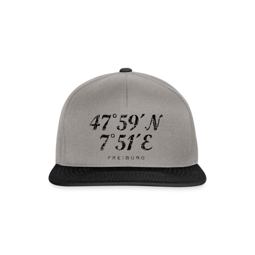 Freiburg Koordinaten Vintage (Schwarz) S-5XL T-Shirt - Snapback Cap