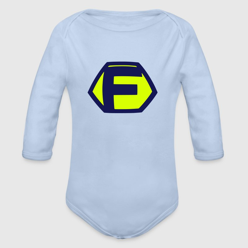 Comic Hero Superheld Superman F lustige Baby Bodys - Baby Bio-Langarm-Body