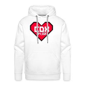 Koszulka Męska CDX Walentynki - Bluza męska Premium z kapturem