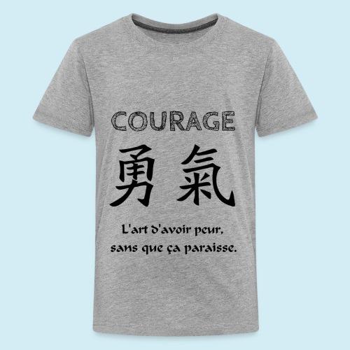 Courage - T-shirt Premium Ado