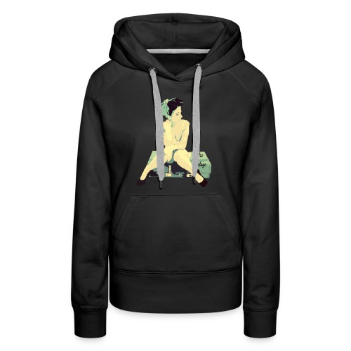 Retro Vintage Pin Up Girl - Women's Premium Hoodie
