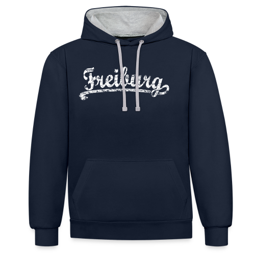 Freiburg Classic Vintage (Weiß) S-5XL T-Shirt - Kontrast-Hoodie