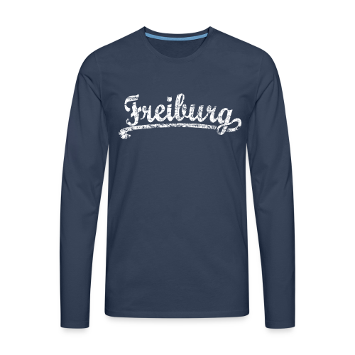 Freiburg Classic Vintage (Weiß) S-5XL T-Shirt - Männer Premium Langarmshirt