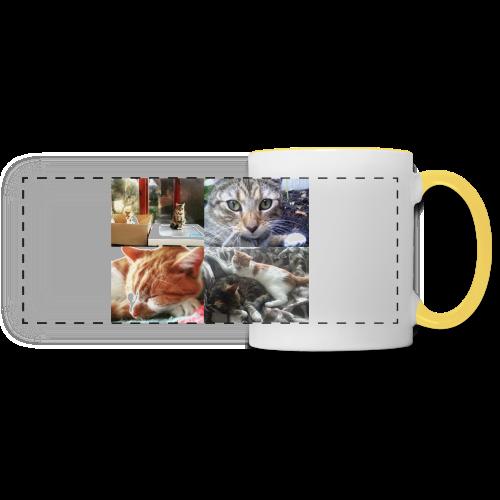 Cat Cushion - Button and Taco - Panoramic Mug