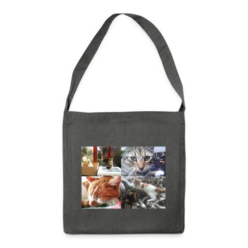 Cat Cushion - Button and Taco - Shoulder Bag made from recycled material