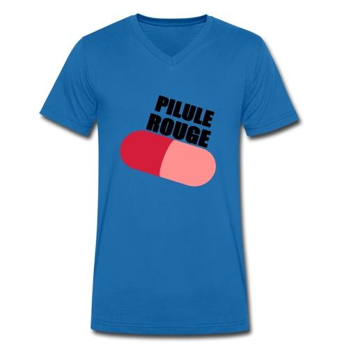 Pilule rouge - T-shirt bio col V Stanley & Stella Homme