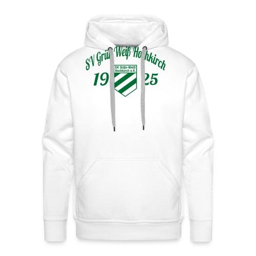 Shirt weiß mit Logo und Schritzug für unsere Herren - ♂  - Männer Premium Hoodie