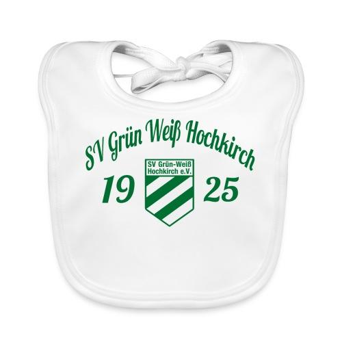 Shirt weiß mit Logo und Schritzug für unsere Herren - ♂  - Baby Bio-Lätzchen