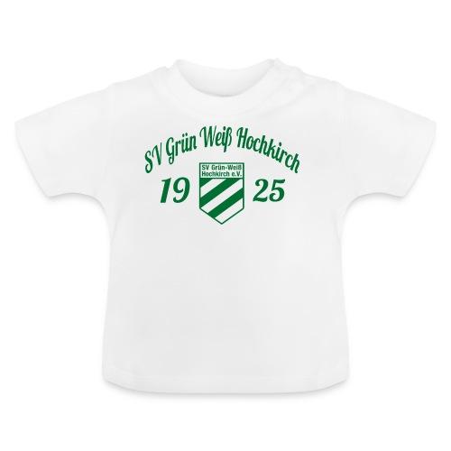 Shirt weiß mit Logo und Schritzug für unsere Herren - ♂  - Baby T-Shirt