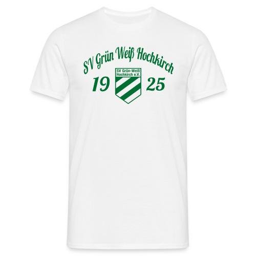 Shirt weiß mit Logo und Schritzug für unsere Herren - ♂  - Männer T-Shirt