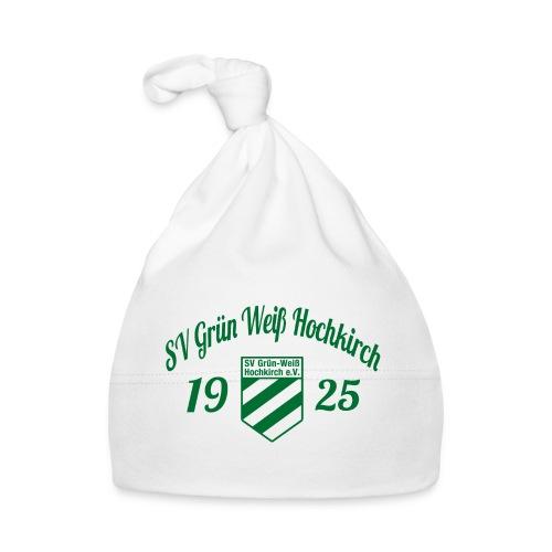 Shirt weiß mit Logo und Schritzug für unsere Herren - ♂  - Baby Mütze