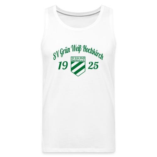 Shirt weiß mit Logo und Schritzug für unsere Herren - ♂  - Männer Premium Tank Top