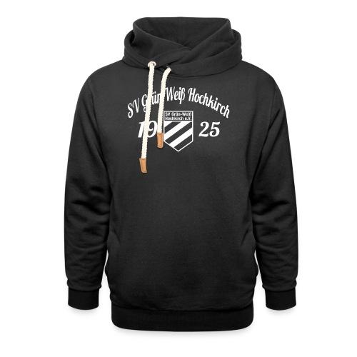 Shirt schwarz mit Logo und Schritzug für unsere Herren - ♂  - Schalkragen Hoodie