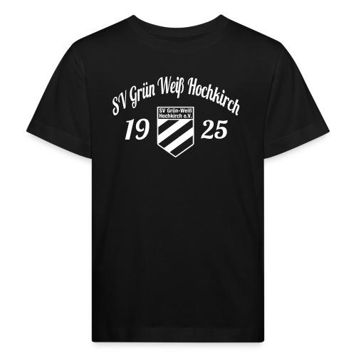Shirt schwarz mit Logo und Schritzug für unsere Herren - ♂  - Kinder Bio-T-Shirt