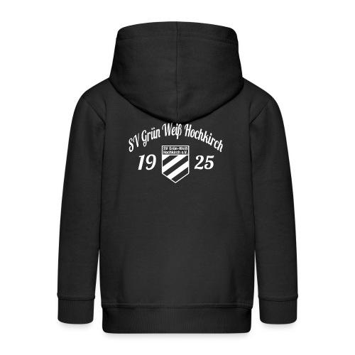 Shirt schwarz mit Logo und Schritzug für unsere Herren - ♂  - Kinder Premium Kapuzenjacke