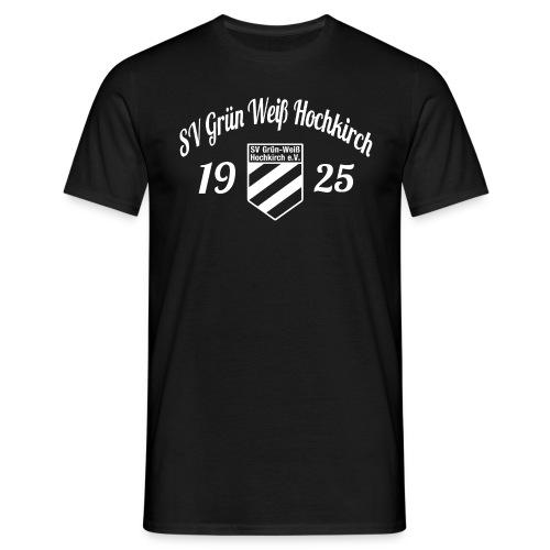 Shirt schwarz mit Logo und Schritzug für unsere Herren - ♂  - Männer T-Shirt