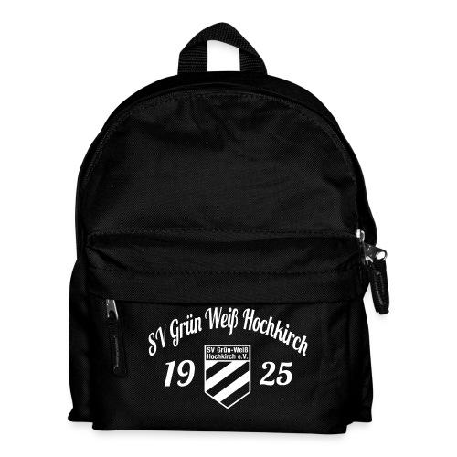 Shirt schwarz mit Logo und Schritzug für unsere Herren - ♂  - Kinder Rucksack