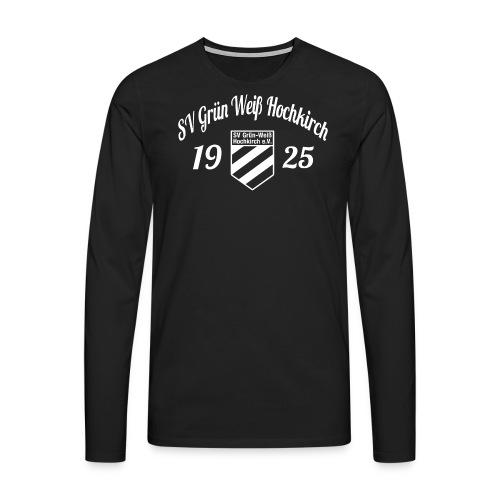 Shirt schwarz mit Logo und Schritzug für unsere Herren - ♂  - Männer Premium Langarmshirt